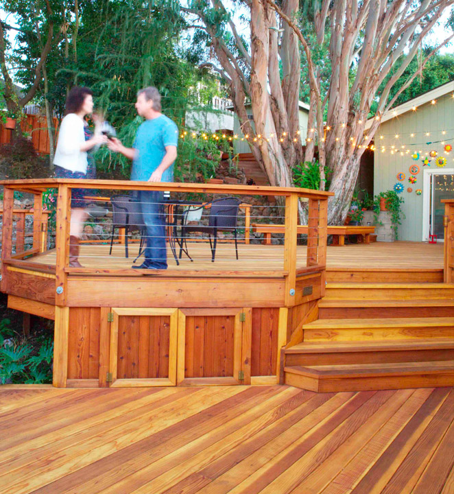 two level deck