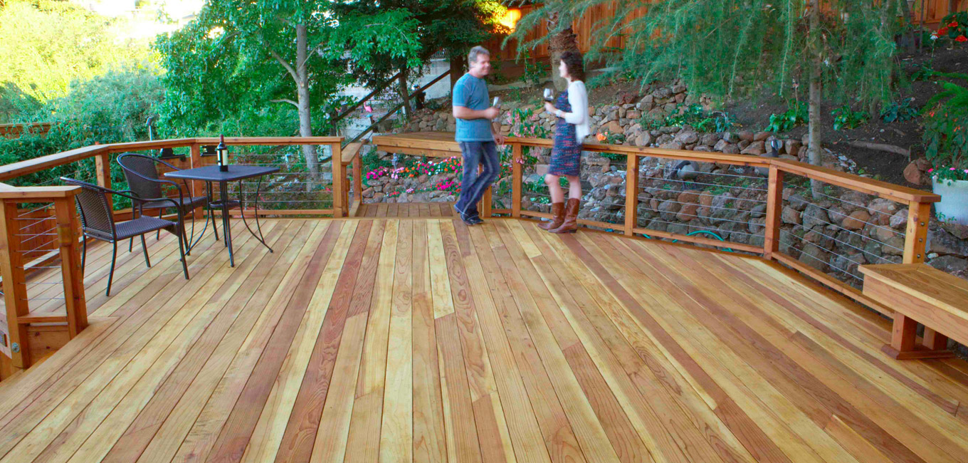 Inspiration mendocino forest products for Redwood deck plans