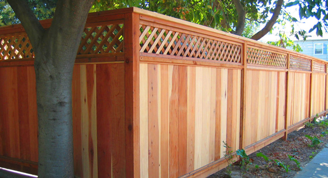 redwood Alameda fence