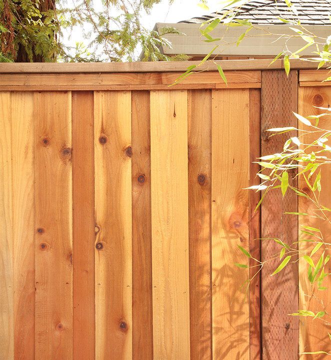 Redwood Construction Common Fence