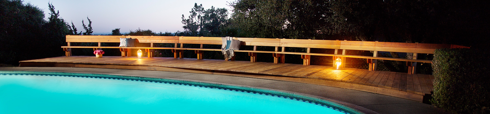 Inspirational Redwood Deck and Pool Patio